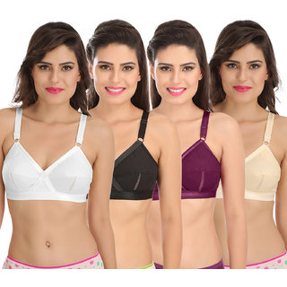 26ffc359c08 Sona Perfecto Women White Full Cup Everyday Dream Fit for Ample Bust Lines Plus  Size Cotton