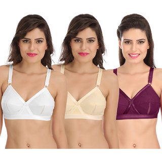 f73a2367c Buy Sona Perfecto Women White Full Cup Everyday Dream Fit for Ample Bust  Lines Plus Size Cotton Bra- Full Coverage Non Wired