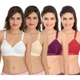 c55c507a8d7b0 Buy Sona Perfecto Women White Full Cup Everyday Dream Fit for Ample Bust  Lines Plus Size Cotton Bra- Full Coverage Non Wired