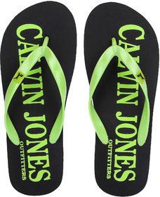 CalvinJones Men's Casual Slippers - Black/Green