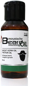 HTI Moustache and Beard Wheat Germ Beard Oil