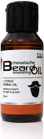 HTI Moustache and Beard Citrus Herbal Beard Oil