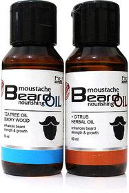 Combo Pack of Tea Tree and Citrus Herbal Beard Oil