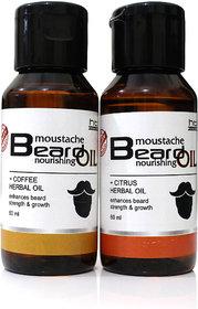 Combo Pack of Coffee Herbal and Citrus Herbal Beard Oil