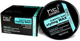 HTI EXPERTS  Organic Hair Styling Wax  Extra Shine Finish 100g