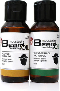 Combo Pack of Coffee Herbal and Wheat Germ Beard Oil