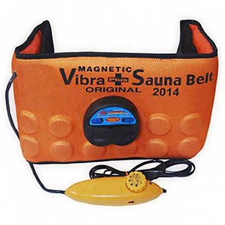 Shubhshop14  3 IN 1 ORANGE SLIM SAUNA BELT VIBRATE MAGNETIC MASSAGER SLIMMING (FAT BURNER BELT) (AS SEEN ON TV)