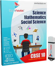 CBSE Class 10 Full Course (Maths, Science, SST) Pendriv