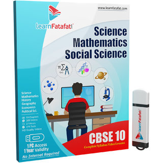 CBSE Class 10 Full Course (Maths, Science, SST) Pendrive