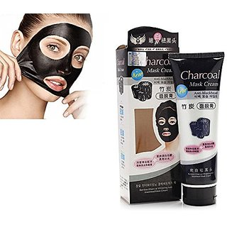 Bamboo Activated Charcoal Anti-Blackhead Suction Mask Cream