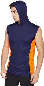 PANCHKOTI Men's Round Neck Sleeveless Polyester Casual Tshirt