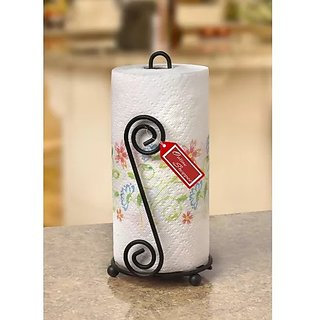 Onlineshoppee Wrought Iron Poseedor Kitchen Toilet Tissue Roll Dispenser Napkin Holder