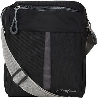 BumBart collection Men  Women Casual  Black Polyester Sling Bag