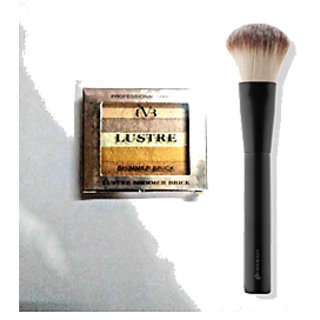 Luster Professional Makeup Highlighter Shimmer Brick-05 With 1 Makeup Brush