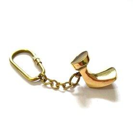 Nautical Brass Metal Shoe Keychain