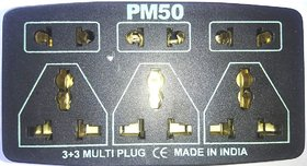 Wireless PM 50 Extension/cord/bod 6 Amp 3+3 Socket,Long Life