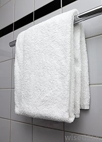 White cotton bath towel (75X150 Cm)