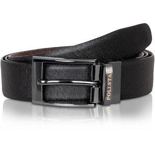 Pollstar Black Brown Italian Leather Belt For Men Business Style 35mm Bt10