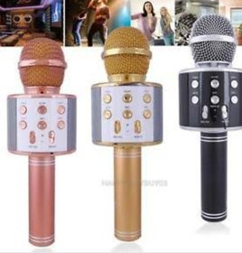 WS-858 Wireless Karaoke Handheld Microphone USB KTV Player Bluetooth Mic Speaker