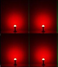 NIPSER 9 Watt RED Led Bulb ( Pack of 4)