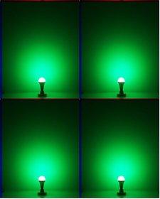 NIPSER 9 Watt Green LED Bulb ( Pack of 4)