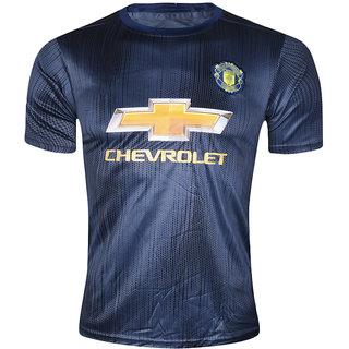 32378bd39bd Buy Man UTD Football Team Black Polyester Half Sleeve Dry Fit Jersey Online  - Get 40% Off