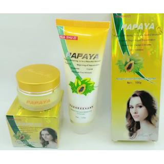 Papaya Active Ferment Whitening Cream with papaya face wash