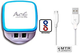 AcE(2.1AMP+1AMP) 2 USB Quick Charge for ASUS (ACE-2112-Blue)