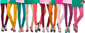 DeVry  Fresh Take  New Desings Printed  Multi colours  Leggings (Pack O F 10 Pc Set)DRY649