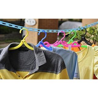 Mukta Enterprise 5 Meters Windproof Anti-Slip Clothes Drying Nylon Rope with Hooks