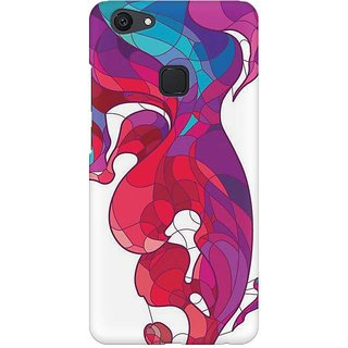 Back Cover for Vivo V7 Plus (Multicolor)