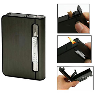 FOCUS Cigarette Case with Lighter 2 in 1