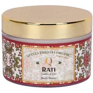 Quinta Essentia Organic Rati Moisturising Body Butter 100 Natural Organic Body Butter For Men and Women (150 g)