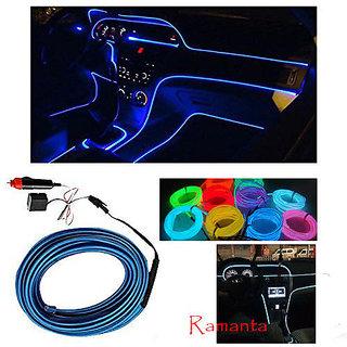 Ramanta EL Wire Car Interior Light Ambient Neon Light for Land Rover Freelander 2 (Blue, Pack of 1)