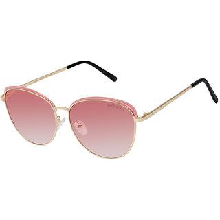David Blake Pink Oversized Gradient UV Protected Mirrored Sunglass