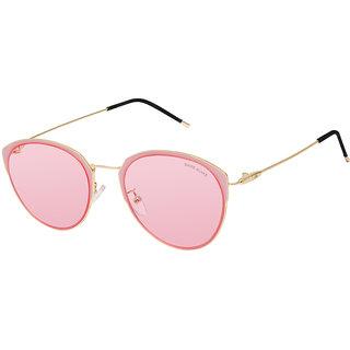 David Blake Pink Cateye UV Protected Mirrored Sunglass
