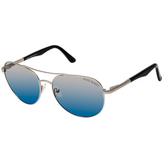 28f4d988544 81%off David Blake Blue Aviator Gradient Polarized UV Protected Sunglass