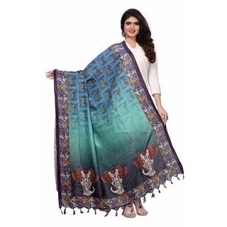 Meia Multicolor Bhagalpuri Silk Digital Print Dupatta