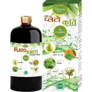 Ayurvedic medicines for increasing platelets Platokriti Juice 500 ml ( Pack Of 2)