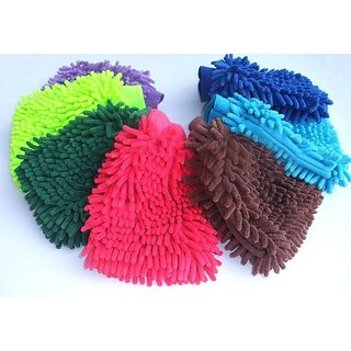 Microfibre Cleaning Gloves Set Of 2pcs