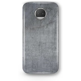 Desiways - Matte Printed Hard case Back Cover for Moto G5s With Scratched Steel Plate  Design