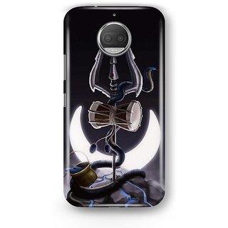 Desiways - Matte Printed Hard case Back Cover for Moto G5s With Shivji Trishul and Damru Design
