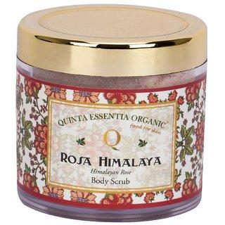 Quinta Essentia Organic Rosa-Himalaya Body Scrub, Pure Natural and Organic Body Scrub for Men and Women (100 g)
