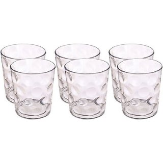 Woms Premium Acrylic Unbreakable Glass For Multipurpose Use Glass Set  (Plastic, 250 ml, Clear, Pack of 6)