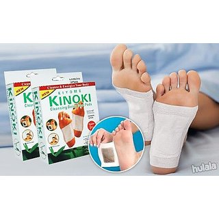 Pack of 2 Imported Organic herb Kinoki Detox Foot Pads Patches (20 Pads total)