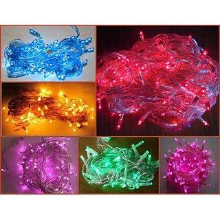 10 Diwali Decoration Lights Rice Lights Bulbs +1 Jointer Free ( Blue White)