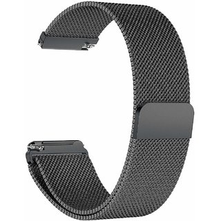 Fitbit Versa Bands by House of Quirk Stainless Steel Milanese Metal Replacement Accessories Bracelet Strap with Magnet Lock
