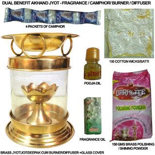 Dual Benefit Akhand Jyot - Fragrance / Camphor/ Burner / Diffuser