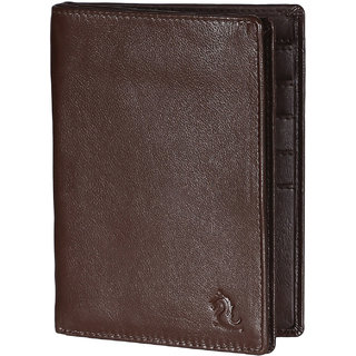 Kara Mens Tan Pure Leather Passport Holder