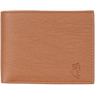 Kara Mens Tan PU Bi-fold Wallet